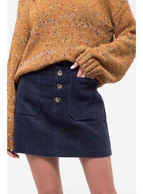 Blu Pepper Button front corduroy skirt