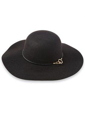 Mud Pie Vale linked hat - black