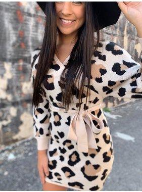 Entro Inc. Leopard wrap dress