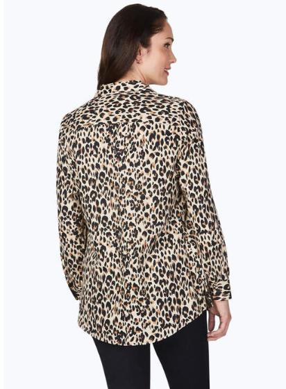 Foxcroft Lucca l/s Eve Leopard top