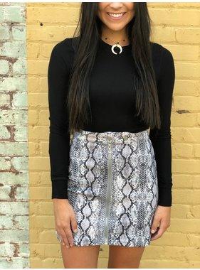 Peach Love California Dangelo snake printed skirt