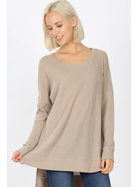 Zenana Brushed thermal waffle tunic