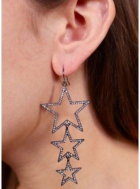 Caroline Hill Trina triple star earring
