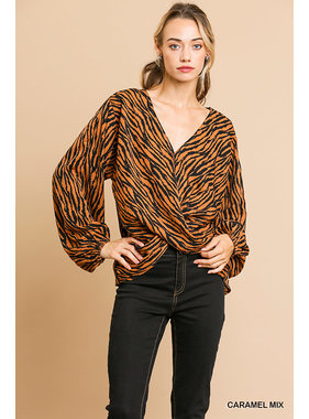 Umgee Animal print top