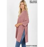 Zenana Brushed melange sweater