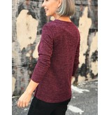 Soft works Scoop neck sweater top with side button detail