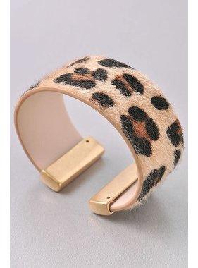 Merveille Leopard cuff bracelet
