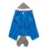 Mud Pie Shark hooded towel