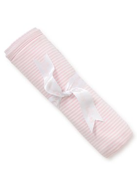 Kissy Kissy Simple stripes blanket Pink