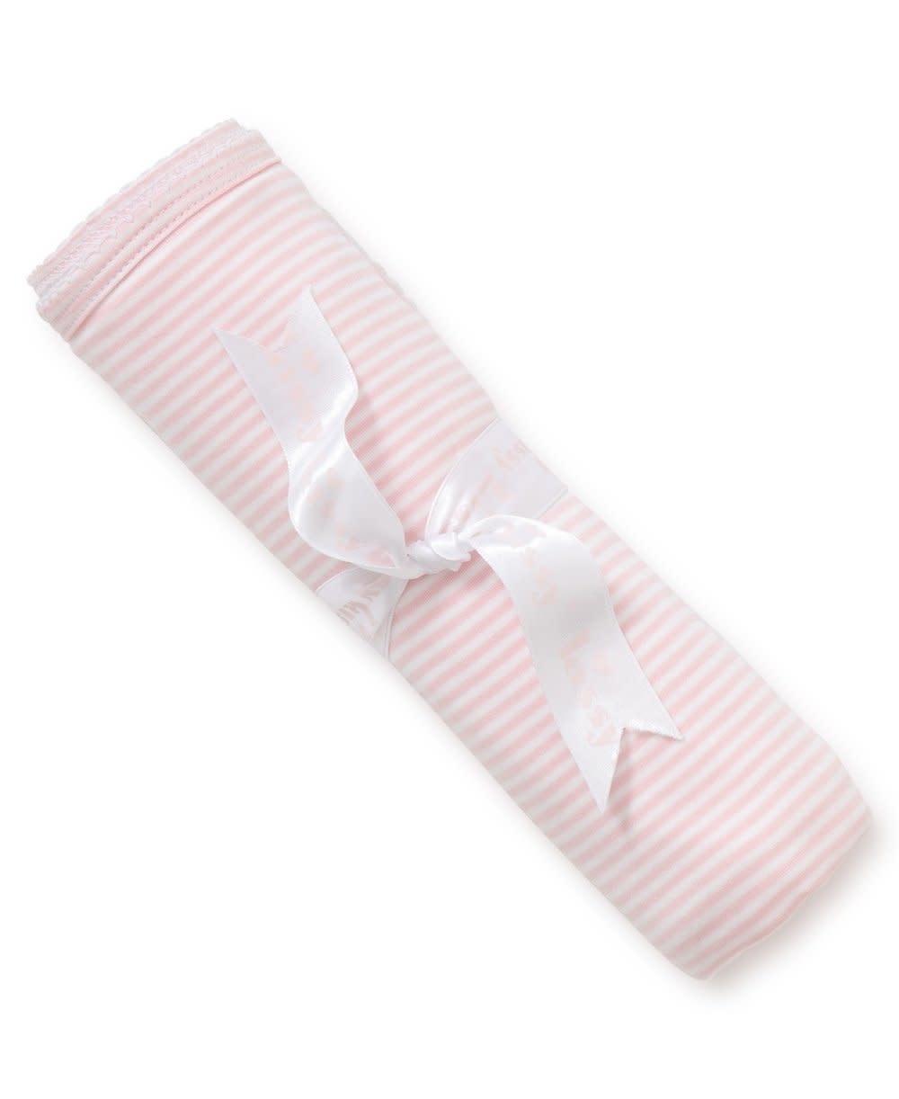Kissy Kissy Simple stripes blanket Pink