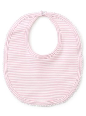 Kissy Kissy Pink stripes bib