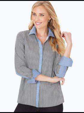 Foxcroft Kyla stripe blouse