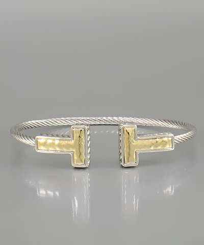 Golden Stella Cable t cuff