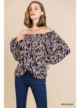 Umgee Off shoulder printed top