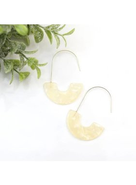 Funky Monkey Fashion Luna cream tortoise & half moon earrings