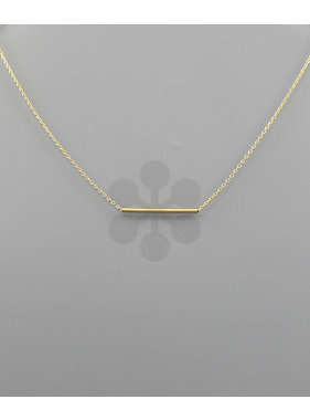 Golden Stella Thin tube bar necklace