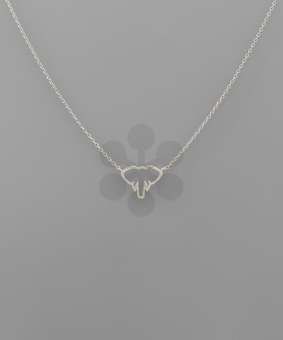 Golden Stella Elephant necklace