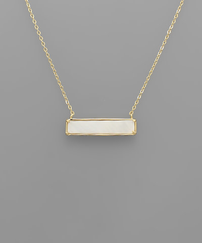 Golden Stella Bar Mother of pearl necklace