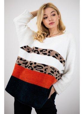 Davi & Dani Cozy thick mixed color sweater
