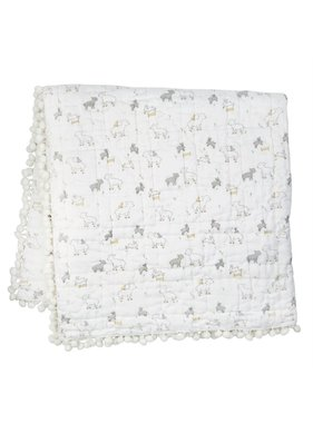 Mud Pie Little Lamb Quilt -