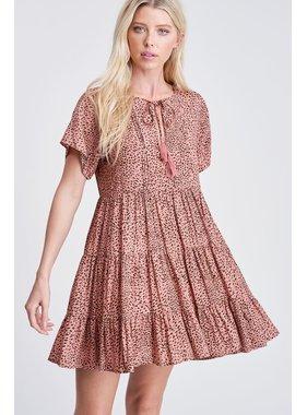 White Birch LA Print woven dress