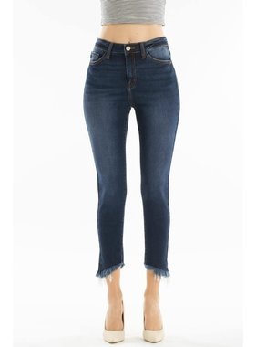 KanCan Gemma high rise cropped jean