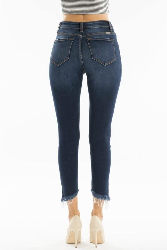 KanCan Gemma high rise cropped jean