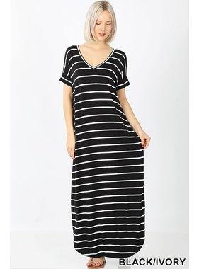 Zenana Stripe maxi dress