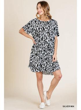 Umgee Print round neckline dress A5517