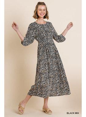 Umgee Midi animal print dress
