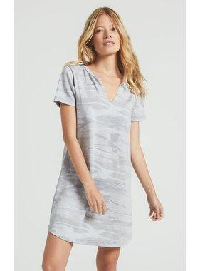 Z Supply Camo split neck dress