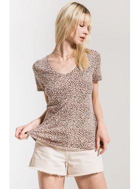 Z Supply Mini leopard v neck tee