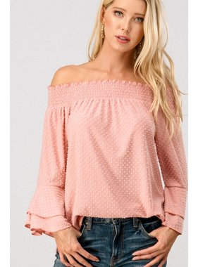 Trend:Notes Popcorn knit layered ruffle sleeve top