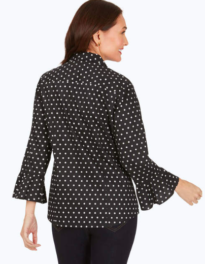 Foxcroft Birdie Dot Shirt