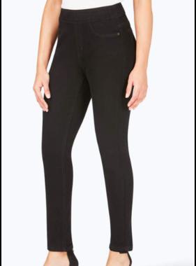 Foxcroft Foxcroft Black Stretch Pull On Denim Jeans