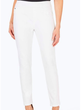Foxcroft Foxcroft White Pull On Stretch Denim Jeans