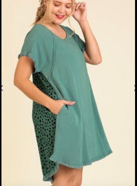 Umgee Ruffle sleeve dress