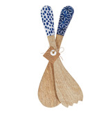 Mud Pie Indigo Salad Servers