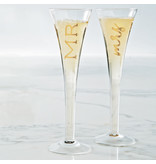 Mud Pie Mr & Mrs Champagne glasses