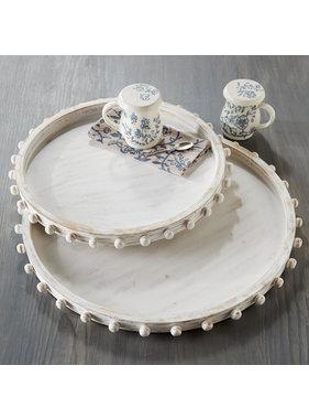 Mud Pie Small Beaded wood tray