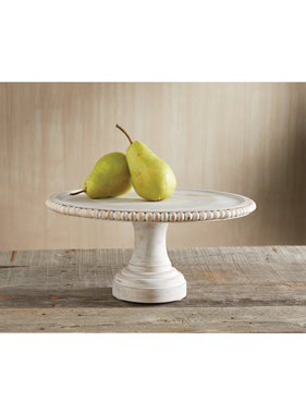 Mud Pie Beaded cake stand white