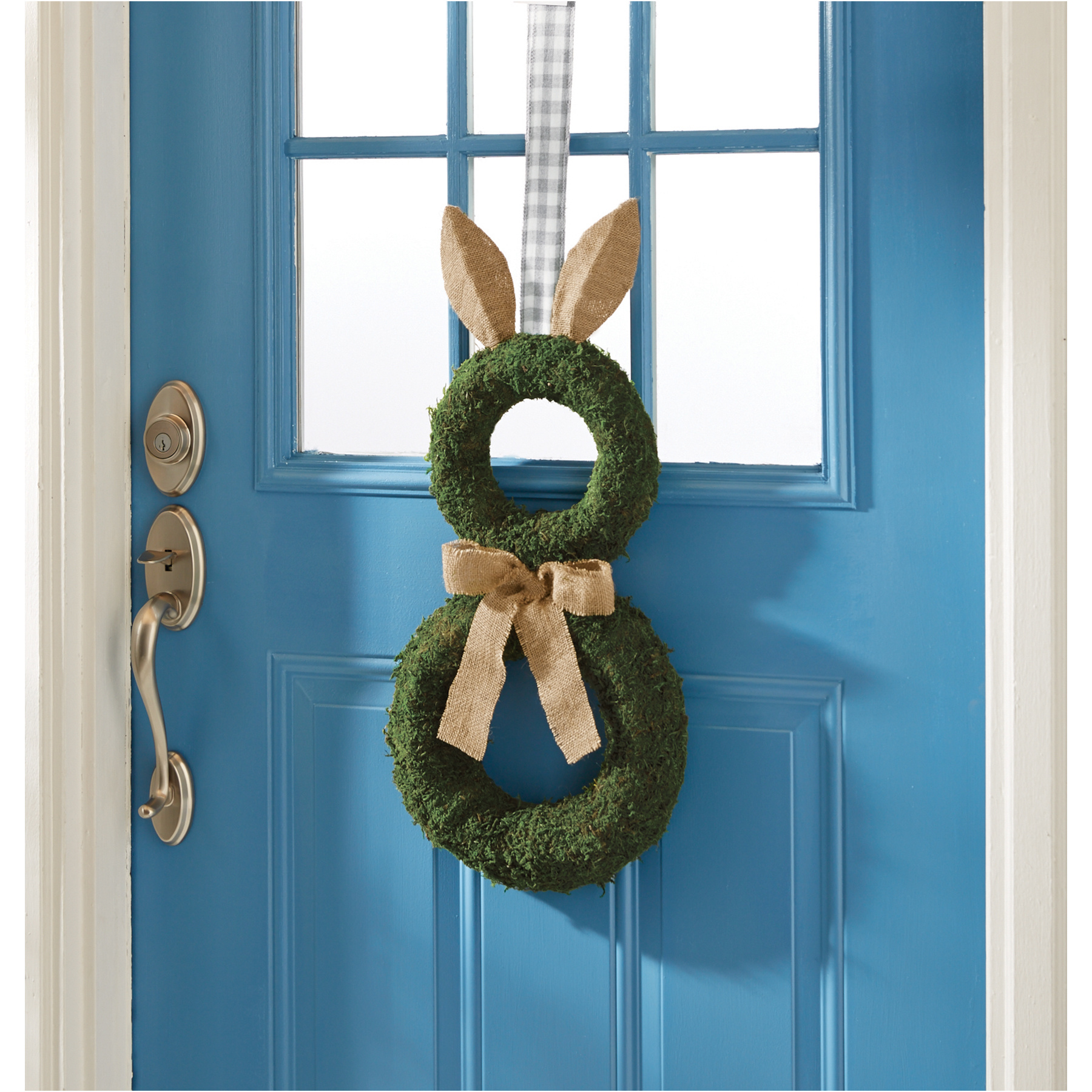 Mud Pie Preserved moss bunny hanger