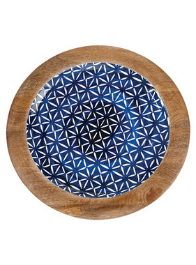 Mud Pie Indigo wood tray - small