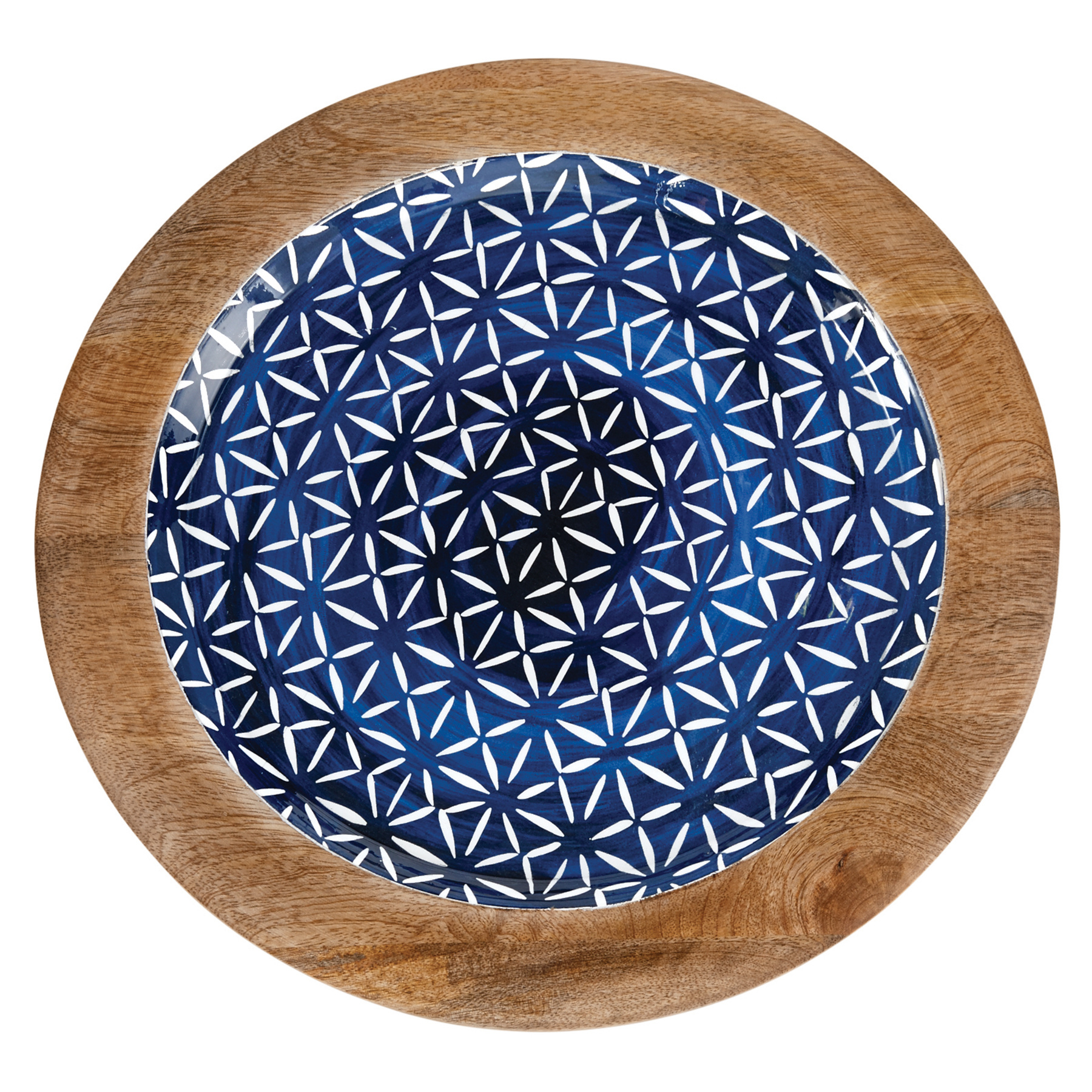 Mud Pie Indigo wood tray - Small