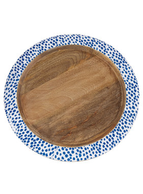 Mud Pie Indigo wood tray - large
