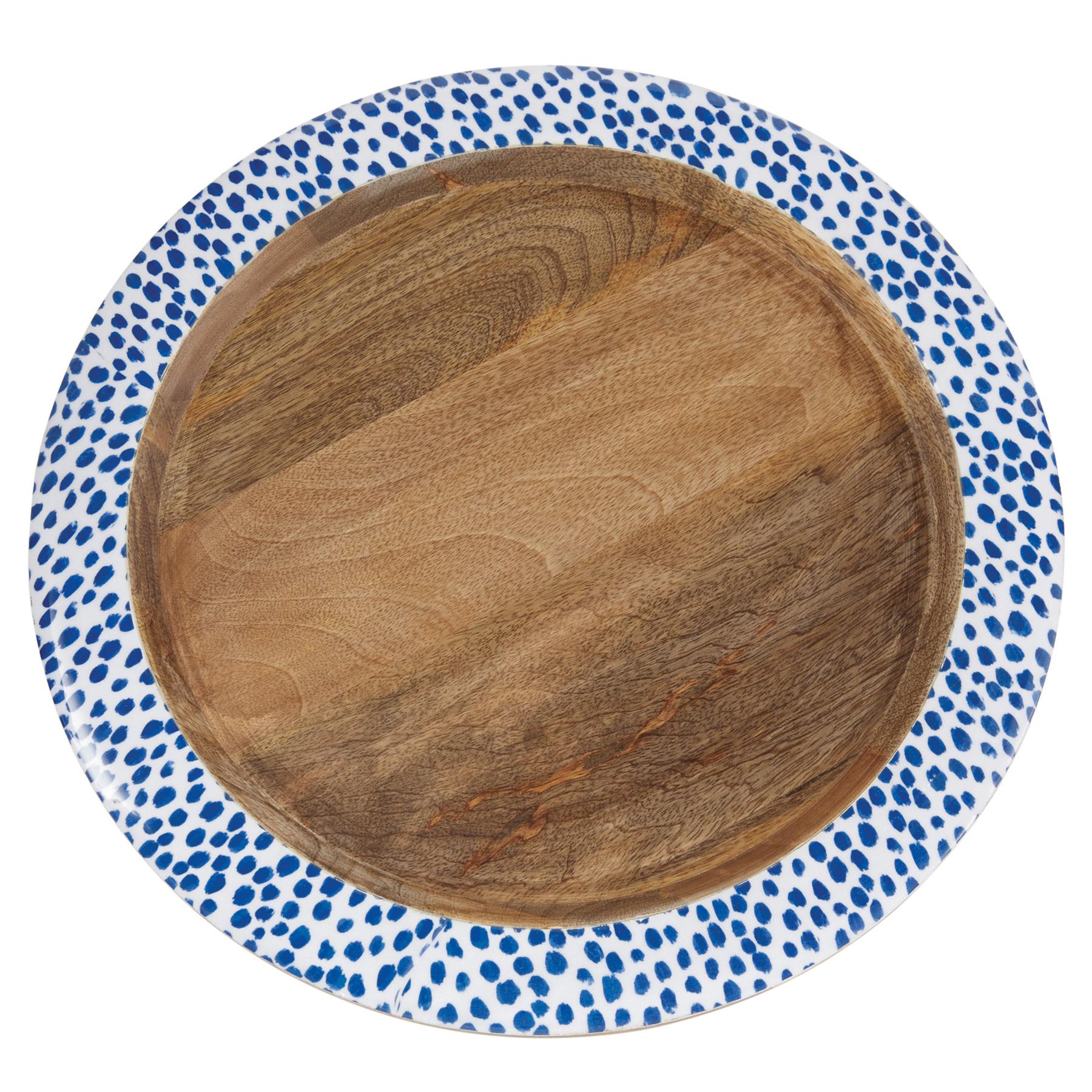 Mud Pie Indigo wood tray - large