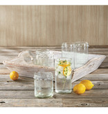 Mud Pie Dotted hammered glass highball