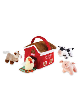 Mud Pie Farm House Plush Set