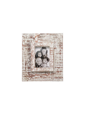 Mud Pie 5x7 White distressed frame