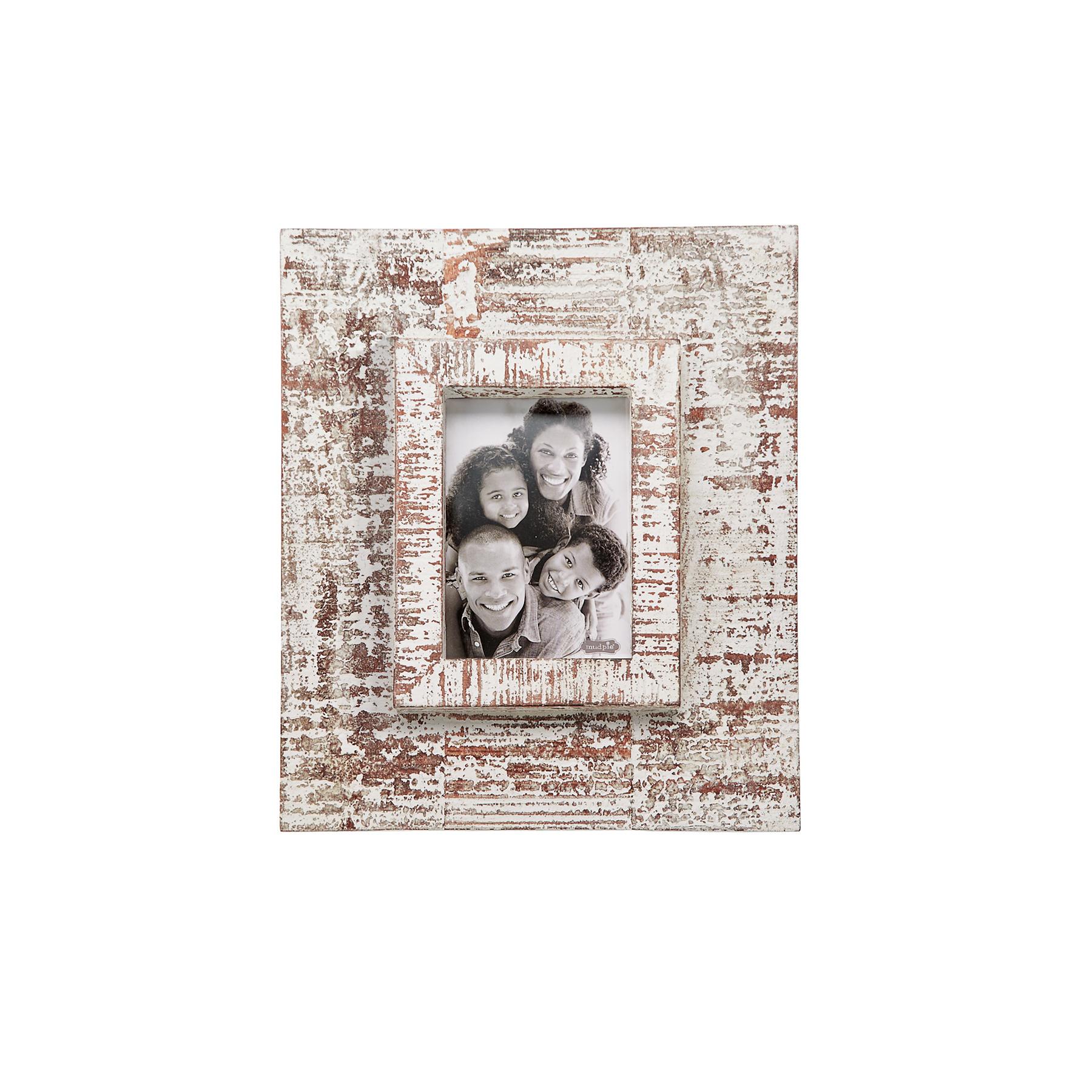 Mud Pie 5x7 White distressed frame
